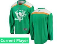Mens Nhl Pittsburgh Penguins Green 2019 St. Patrick's Day Replica Current Player Jersey