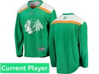 Mens Nhl Chicago Blackhawks Green 2019 St. Patrick's Day Replica Current Player Jersey
