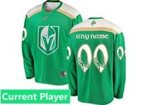 Mens Nhl Vegas Golden Knights Green 2019 St. Patrick's Day Replica Current Player Jersey
