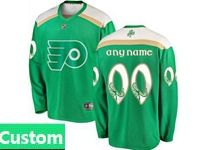 Mens Nhl Philadelphia Flyers Green 2019 St. Patrick's Day Replica Custom Made Jersey