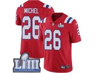 Mens New England Patriots #26 Sony Michel Red 2019 Super Bowl Liii Bound Vapor Untouchable Limited Jersey