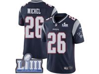 Mens New England Patriots #26 Sony Michel Blue 2019 Super Bowl Liii Bound Vapor Untouchable Limited Jersey