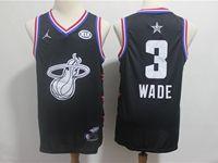 Mens Nba Miami Heat #3 Dwyane Wade Black 2019 All-star Jordan Brand Swingman Jersey