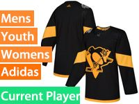 Mens Women Youth Adidas Pittsburgh Penguins Black 2019 Stadium Series Current Player Jersey