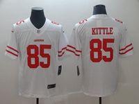 Mens Nfl San Francisco 49ers #85 George Kittle White Vapor Untouchable Limited Jersey