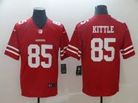Mens Nfl San Francisco 49ers #85 George Kittle Red Vapor Untouchable Limited Jersey