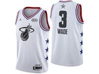 Mens Nba Miami Heat #3 Dwyane Wade White 2019 All-star Jordan Brand Swingman Jersey