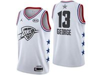 Mens Nba Oklahoma City Thunder #13 Paul George White 2019 All-star Jordan Brand Swingman Jersey