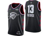 Mens Nba Oklahoma City Thunder #13 Paul George Black 2019 All-star Jordan Brand Swingman Jersey