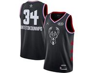 Mens Nba Milwaukee Bucks #34 Giannis Antetokounmpo Black 2019 All-star Jordan Brand Swingman Jersey