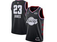 Mens Nba Los Angeles Lakers #23 Lebron James Black 2019 All-star Jordan Brand Swingman Jersey