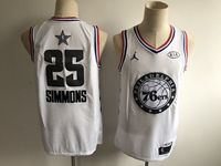 Mens Nba Philadelphia 76ers #25 Ben Simmons White 2019 All-star Jordan Brand Swingman Jersey