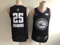 Mens Nba Philadelphia 76ers #25 Ben Simmons Black 2019 All-star Jordan Brand Swingman Jersey