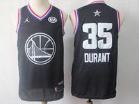 Mens Nba Golden State Warriors #35 Kevin Durant Black 2019 All-star Jordan Brand Swingman Jersey