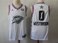 Mens Nba Oklahoma City Thunder #0 Russell Westbrook White 2019 All-star Jordan Brand Swingman Jersey