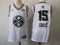 Mens Nba Denver Nuggets #15 Nikola Jokic White 2019 All-star Jordan Brand Swingman Jersey