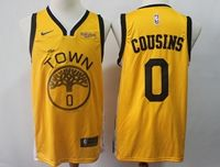 Mens Nba Golden State Warriors #0 Demarcus Cousins Gold Nike Swingman Playoff Award Edition Jersey