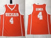 Mens Ncaa Nba Texas Longhorns #4 Bamba Orange Jersey