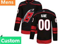 Mens Adidas Nhl Carolina Hurricanes Black Custom Made Alternate Premier Jersey