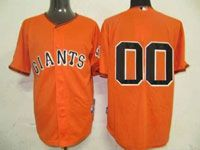 Mens Mlb San Francisco Giants Custom Made Orange No Name Cool Base Jersey