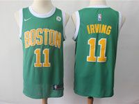 Mens 2018-19 Nba Boston Celtics #11 Kyrie Irving Green Swingman Earned Edition Jersey