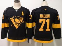 Youth Women Nhl Pittsburgh Penguins #71 Evgeni Malkin Black Adidas 2019 Stadium Series Jersey