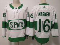 Mens Nhl Toronto Maple Leafs #16 Mitchell Marner Adidas St. Pats Adidas Authentic White Jersey