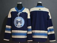 Mens Nhl Columbus Blue Jackets Blank Navy Blue Adidas Jersey