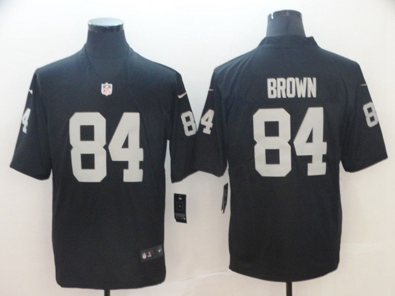 Mens Women Youth Nfl Oakland Raiders #84 Antonio Brown Black Vapor Untouchable Limited Player Jersey