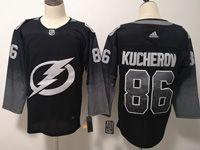 Mens  Nhl Tampa Bay Lightning #86 Nikita Kucherov Black Alternate Breakaway Player Jersey