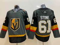 Mens Nhl Vegas Golden Knights #61 Mark Stone Gray Adidas Jersey