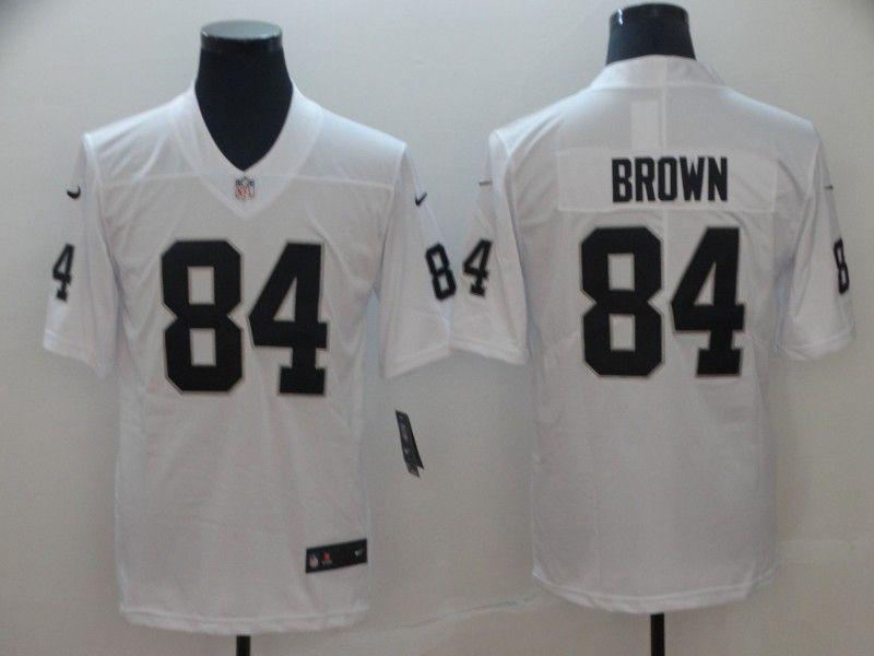 Mens Nfl Oakland Raiders #84 Antonio Brown White Vapor Untouchable Limited Player Jersey