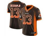 Mens Nfl Cleveland Browns #13 Odell Beckham Jr Brown Drift Fashion Vapor Untouchable Limited Jersey