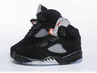 Men Nike Air Jordan 5 Basketball Shoes Clour Black Ec8489730