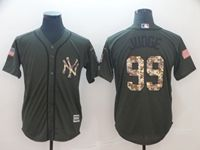 Mens Mlb New York Yankees #99 Aaron Judge Green (camo Number) Cool Base Jersey
