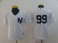 Youth Mlb New York Yankees #99 Aaron Judge White (no Name) Cool Base Jersey
