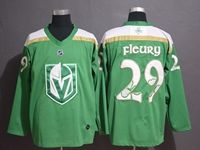 Mens Nhl Vegas Golden Knights #29 Marc-andre Fleury Green 2019 St. Patrick's Day Replica Jersey