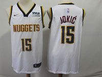 Mens Nba Nike Denver Nuggets #15 Nikola Jokic White Association Edition Swingman Jersey