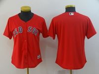 Women Mlb Boston Red Sox Blank Red Cool Base Jersey