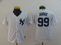 Youth Mlb New York Yankees #99 Aaron Judge White Cool Base Jersey