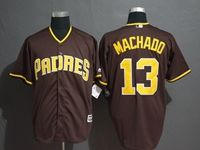 Mens Majestic San Diego Padres #13 Manny Machado Brown Cool Base Current Player Jersey