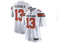 Mens Nfl Cleveland Browns #13 Odell Beckham Jr White Game Nike Jersey
