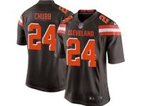 Mens Nfl Cleveland Browns #24 Nick Chubb Brown Game Nike Jersey