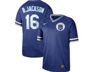 Mens Mlb Kansas City Royals #16 B.jackson Blue Cooperstown Collection Legend V Neck Cool Base Nike Jersey