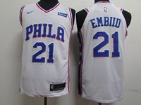Mens 2019 New Nba Philadelphia 76ers #21 Joel Embiid White Nike Jersey