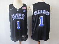 Mens Ncaa Nba Duke Blue Devils #1 Williamson Black Nike Jersey