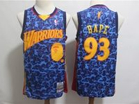 Mens Nba Golden State Warriors Bathing Ape #93 Bape Blue Printing Mitchell&ness Jersey