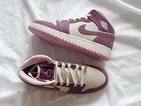 Women Nike Air Jordan 1 Basketball Pink Purle Shoes