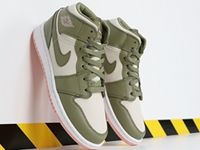 Women Air Jordan 1 Mid Basketball Light Green Nike Shoes