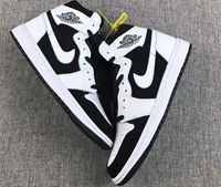 Mens Nike Air Jordan 1 Black&white Panda Basketball Shoes